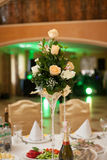 Closeup of flowers bouquet at luxury wedding reception Royalty Free Stock Photography