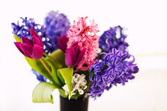Closeup of flowers in vase stock photos