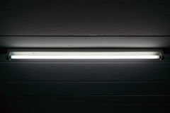 Closeup of the fluorescent. stock photography