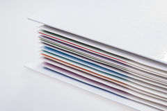 Closeup folder with colored documents Royalty Free Stock Image