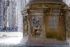 Closeup of fontaine lower part in Vaticano - beautiful backgroun Royalty Free Stock Photo