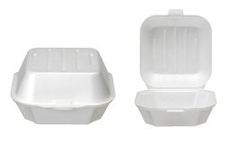 Closeup of food container. Closeup of takeout food container Royalty Free Stock Images