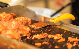 Closeup food stall outdoor on street Royalty Free Stock Photos