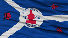 Closeup of Fort Wayne City Flag Royalty Free Stock Image