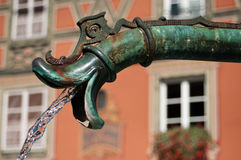 Closeup fountain in Colmar Stock Image