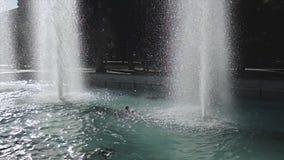 Closeup Fountain, Motion of Fountain, Fountain in the garden. stock video