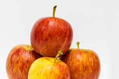 Closeup of four apples Stock Photo