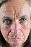 Closeup för gammal kvinna Arkivfoton