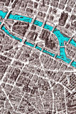 Closeup fragment of Paris map Stock Photo