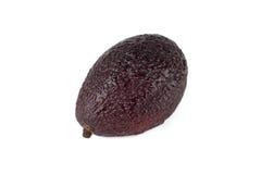 Closeup of fresh avocado. Ripe sliced avocado fruits isolated on white background Royalty Free Stock Image
