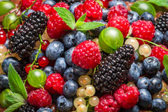 Closeup of fresh berry fruits Stock Photo