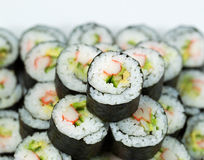 Closeup of Fresh California Hand Roll Royalty Free Stock Images