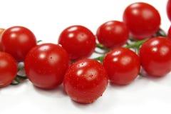 Closeup of fresh cherry tomatoes Stock Photo