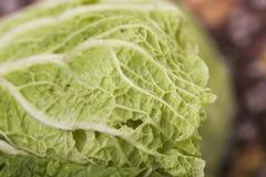 Closeup of fresh chinese leaf Stock Photo