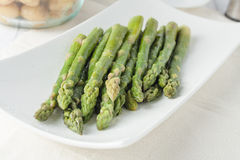 Closeup of fresh cooked asparagus Stock Photography