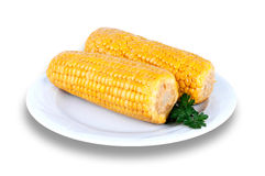 Closeup of fresh corn Royalty Free Stock Images