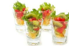 Closeup Fresh fruit salad Stock Photos