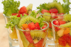Closeup Fresh fruit salad Royalty Free Stock Images