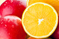 Closeup of fresh fruits Stock Photography