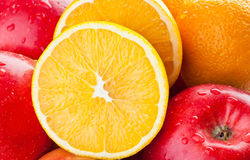 Closeup of fresh fruits Stock Photos