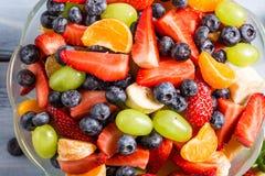 Closeup of fresh healthy fruits salad Royalty Free Stock Images