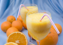 Closeup of fresh orange juice Stock Images