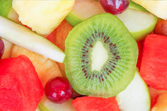 Closeup of Fresh organic fruit salad Royalty Free Stock Photography