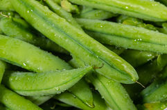 Closeup of fresh picked peas Royalty Free Stock Images