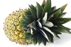 Closeup fresh pineapple fruit isolated Stock Photo