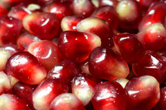 Closeup of fresh pomegranate Royalty Free Stock Photography