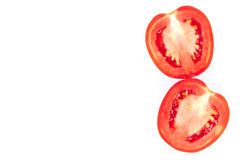 Closeup fresh red tomatoes on white background, food and vegetab Stock Photo