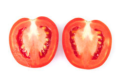 Closeup fresh red tomatoes on white background, food and vegetab Royalty Free Stock Photography
