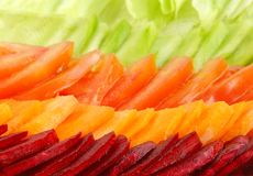 Closeup of fresh salad ingredient Royalty Free Stock Photo