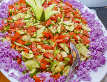 Closeup of a fresh salad on a plate Royalty Free Stock Photo