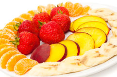 Closeup of fresh slices of fruit Royalty Free Stock Photography