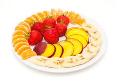 Closeup of fresh slices of fruit Stock Images