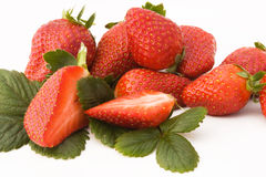 Closeup Of Fresh Strawberries Royalty Free Stock Images