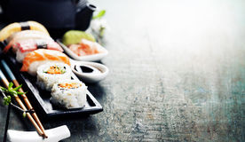 Closeup of fresh sushi Stock Photo