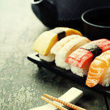 Closeup of fresh sushi Royalty Free Stock Photos