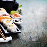 Closeup of fresh sushi Royalty Free Stock Image