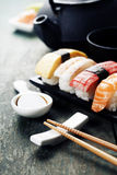 Closeup of fresh sushi Royalty Free Stock Images