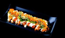 Closeup of fresh sushi Stock Images