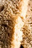 Closeup of a fresh wheat bread slice Stock Photo