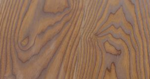 Closeup freshly applied protective oil finish to ash floor stock photo