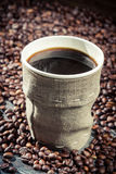 Closeup of freshly hot coffee Stock Photography