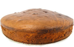 Closeup of freshly made round shaped chocolate cake Royalty Free Stock Images