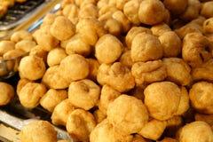 Closeup of fried shrimp ball stock photos