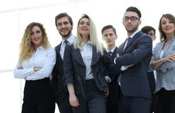 Closeup.friendly business team. Royalty Free Stock Photos