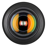 Closeup front of lens Royalty Free Stock Photography