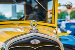 Closeup frontal view of a vintage Ford car Royalty Free Stock Images